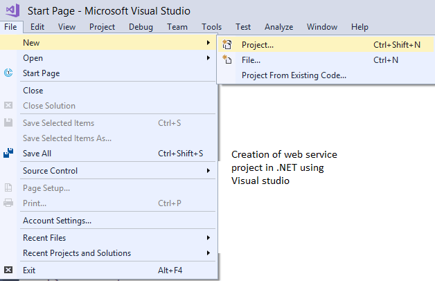 How To Create A Web Service Project In .NET Using Visual Studio